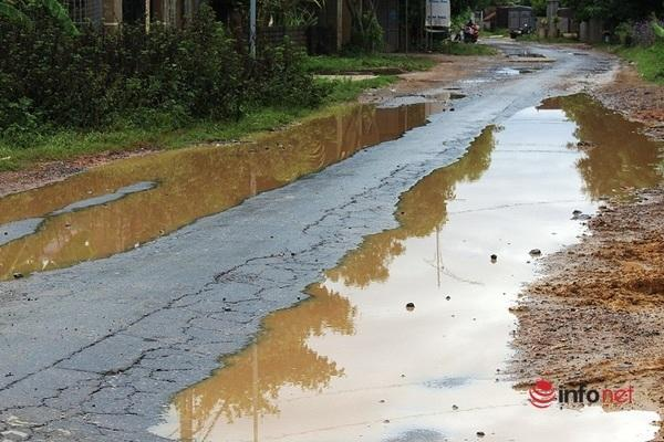Tuyến đường hiện đã hư hỏng nghiêm trọng, đặc biệt đoạn từ ngã 3 Tân Vĩnh (xã Tân Thành) đi qua địa bàn xã Diễn Lâm đến quốc lộ 48.