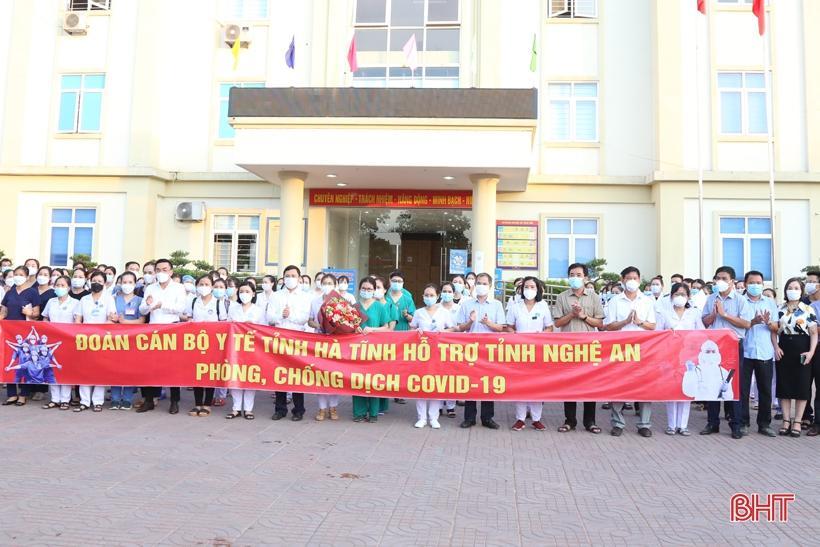 Hà Tĩnh cử 152 cán bộ, nhân viên, sinh viên ngành y tế ra chi viện cho Nghệ An phòng, chống dịch COVID-19.