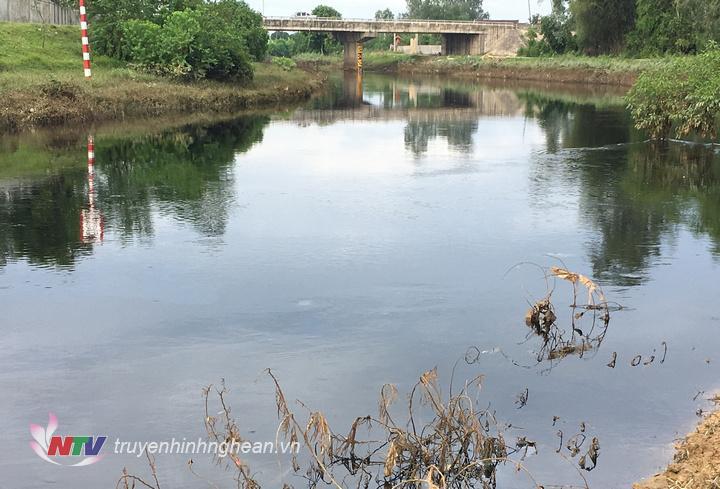 Mặc dù nước ở đây đã bị ô nhiễm trầm trọng, nhưng đây vẫn là nguồn nước chính cung cấp cho nhà máy nước Hưng Nguyên hoạt động.