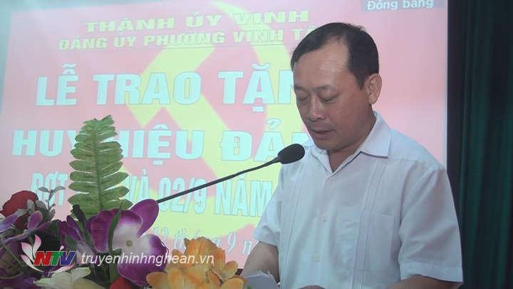 Đ/c Phan Đức Đồng phát biểu tại buổi lễ.