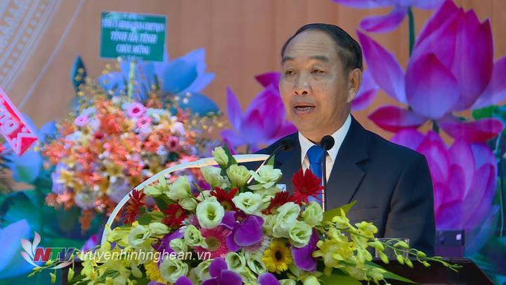 Đồng chí: Khampha Sengdara - Chánh án TAND tối cao nước CHDCND Lào phát biểu tại lễ kỷ niệm.