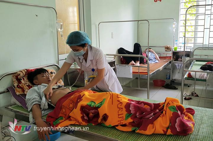 13 bệnh nhân đang được điều trị tại Bệnh viện Đa khoa Diễn Châu.