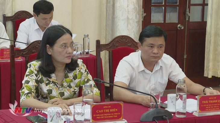 Chủ tịch UBND tỉnh Thái Thanh Quý tham dự hội nghị.