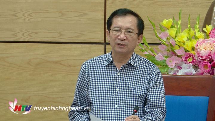 Phó Chủ tịch UBND tỉnh phát biểu kết luận cuộc họp.