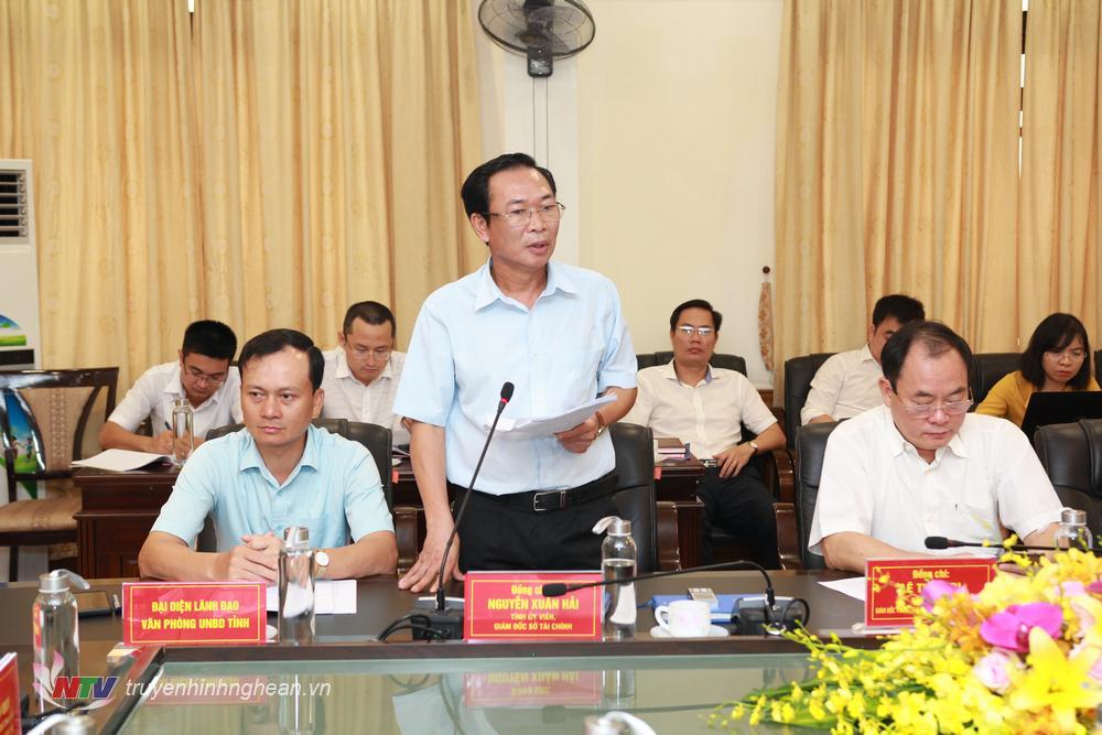Ông Nguyễn Xuân Hải - Giám đốc sở Tài chính đề nghị sở GTVT cần đánh giá tính toán kỹ lưỡng để sắp xếp thứ tự ưu tiên các dự án.