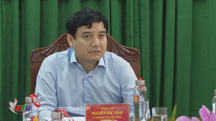 Bí thư Tỉnh ủy Nguyễn Đắc Vinh chủ trì tại điểm cầu Nghệ An.