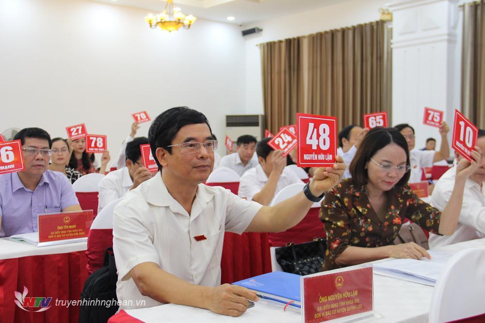 Biểu quyết xác nhận miễn nhiệm đối với các thành viên Ủy viên UBND tỉnh.