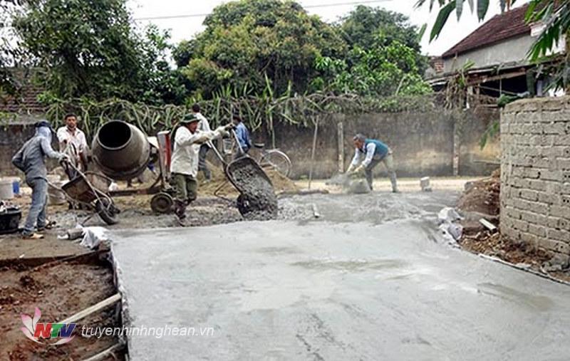 Phong trào xây dựng nông thôn mới ở Yên Thành. (Tư liệu)