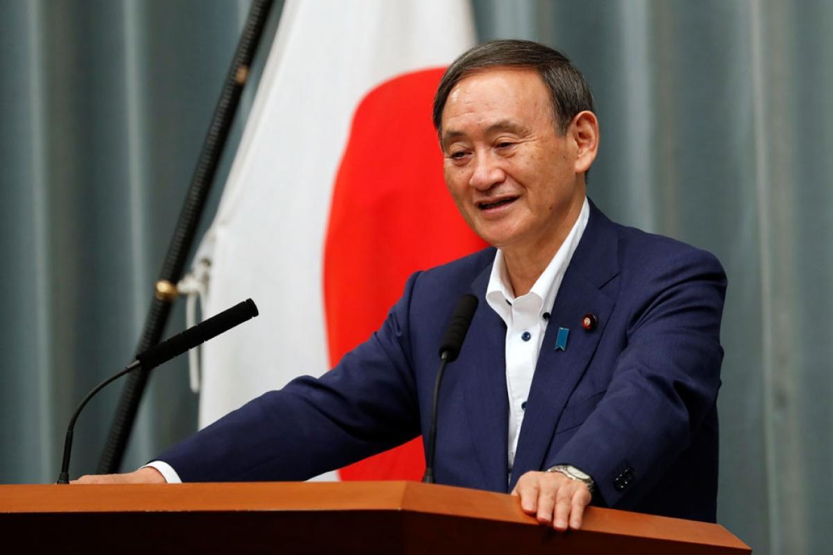 Ông Suga Yoshihide, Chánh văn phòng Nội các Nhật Bản đã được bầu làm Chủ tịch Đảng với số phiếu cao (Ảnh: Reuters)