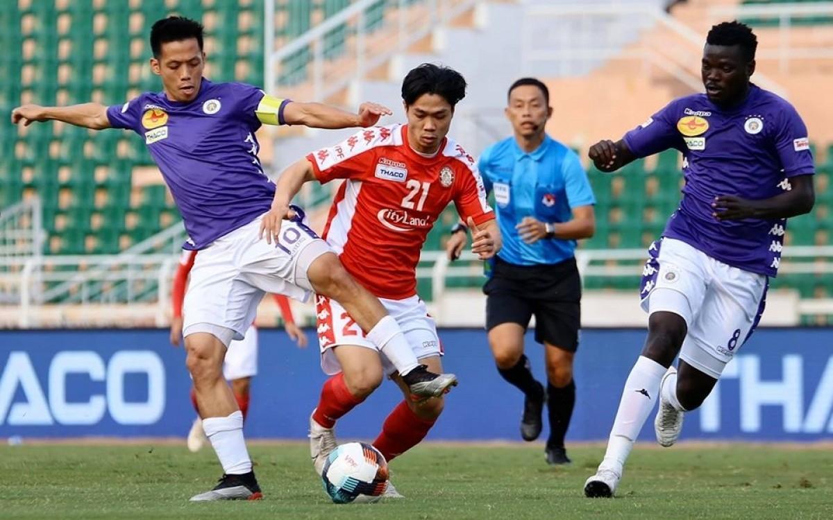 Trận đấu giữa Hà Nội FC và CLB TPHCM là tâm điểm của vòng bán kết Cúp Quốc gia 2020 (Ảnh: VPF).