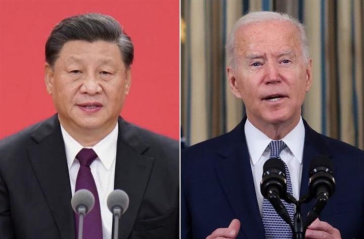 Chủ tịch Trung Quốc Tập Cận Bình và Tổng thống Mỹ Joe Biden. (Ảnh: NYT)