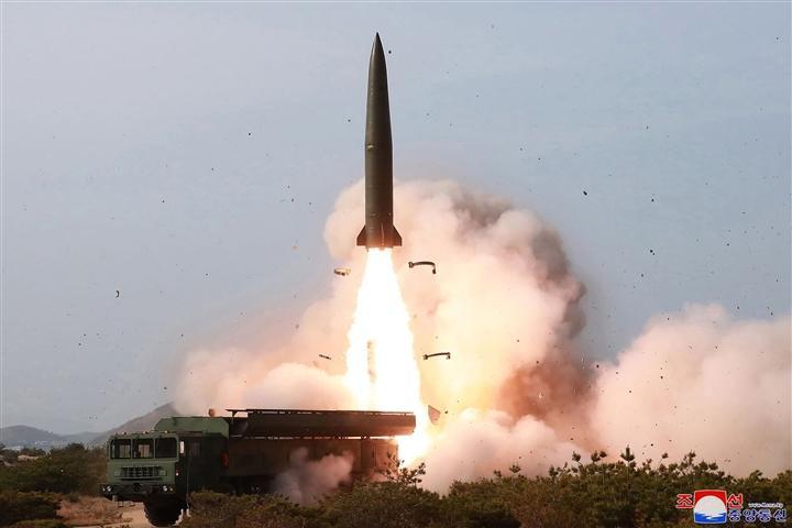 KCNA đưa tin Triều Tiên thử nghiệm thành công tên lửa hành trình tầm xa vào cuối tuần qua. (Ảnh: AP)