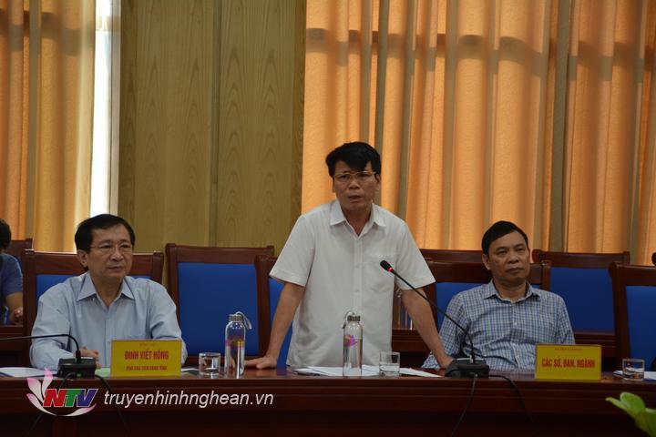 Đại diện lãnh đạo sở NN&PTNT phát biểu tại buổi làm việc.