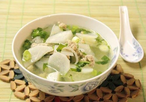 Món ăn từ củ cải tốt cho hệ tiêu hoá.
