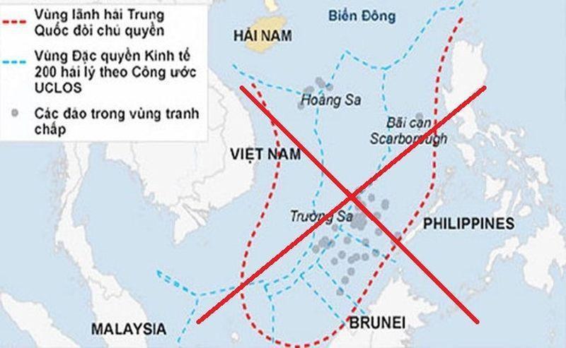 """""""Đường 9 đoạn"""" phi pháp mà Trung Quốc đưa ra với mưu đồ độc chiếm Biển Đông."""