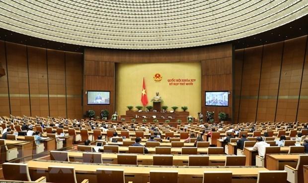 Quang cảnh kỳ họp thứ 10 của Quốc hội.