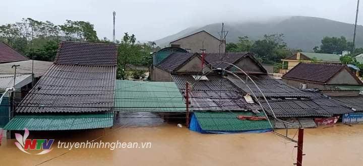 Xã Thanh Mỹ là một trong những khu vực ngập sâu nhất của huyện Thanh Chương.