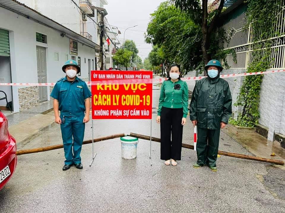 Khu vực cách ly tại khối Yên Hòa, phường Hà Huy Tập, TP Vinh.