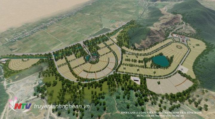 Cảnh quan môi trường sinh thái tâm linh được bố trí hài hòa trong dự án