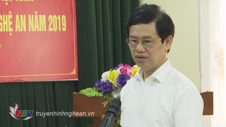 Phó Bí thư Thường trực Tỉnh ủy Nguyễn Xuân Sơn phát biểu tại buổi làm việc.