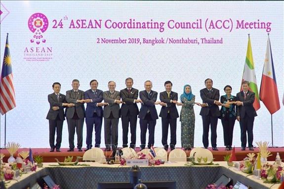 Các trưởng đoàn dự ACC-24 chụp ảnh chung. (Ảnh: TTXVN)
