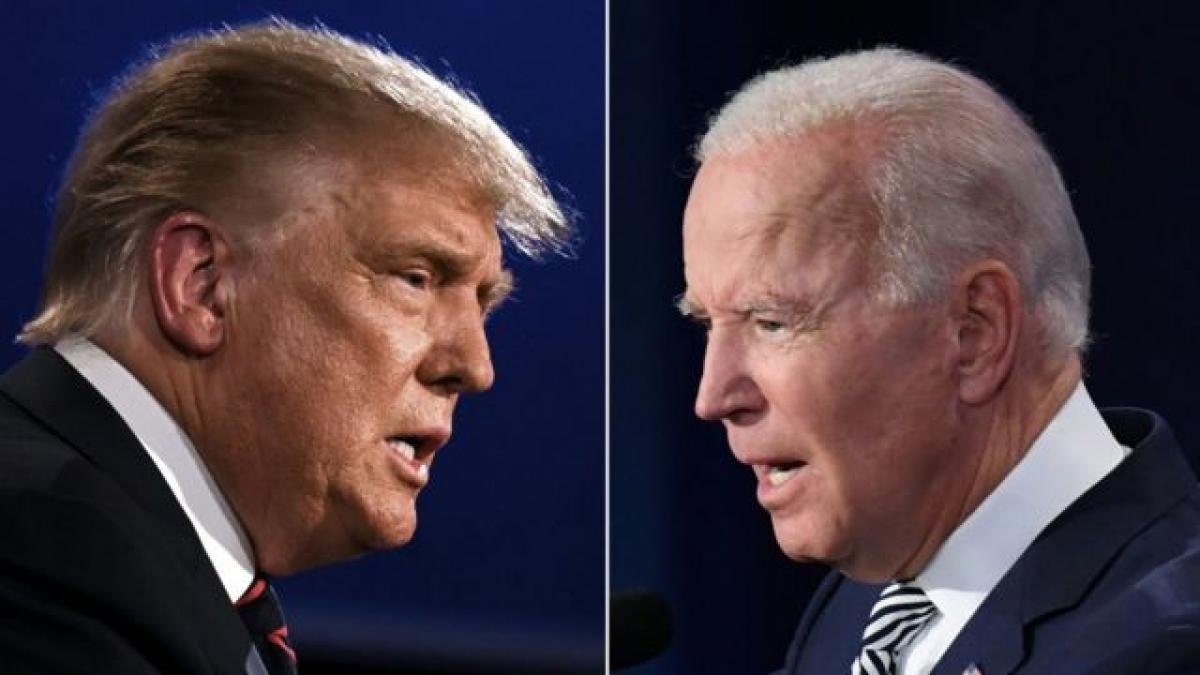 Tổng thống Trump và ứng viên đảng Dân chủ Biden. Ảnh: Getty