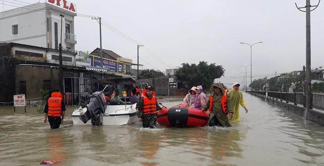Mưa ngập ở Quảng Nam.