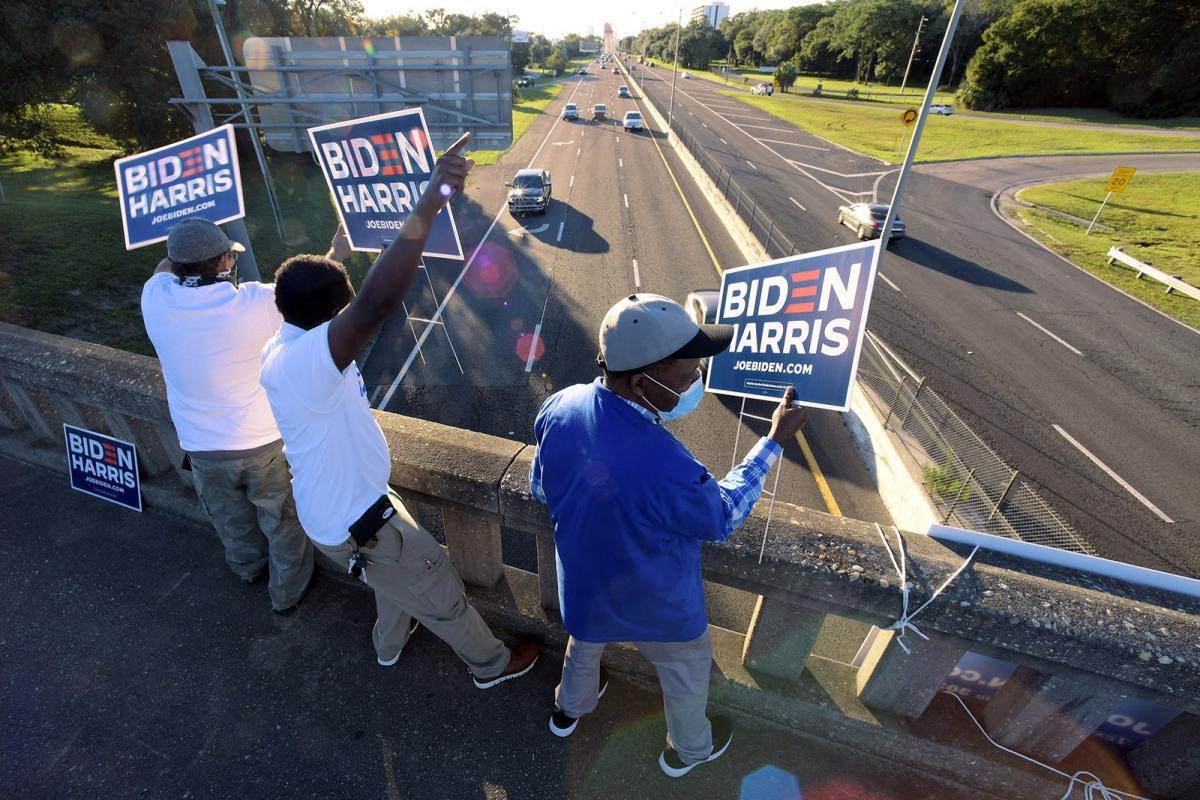 Những người ủng hộ ông Biden ở Jacksonville, Florida. Ảnh: USA Today.