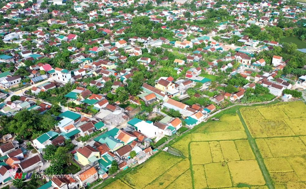 Diện mạo nông thôn mới ở Yên Thành ngày càng khởi sắc.