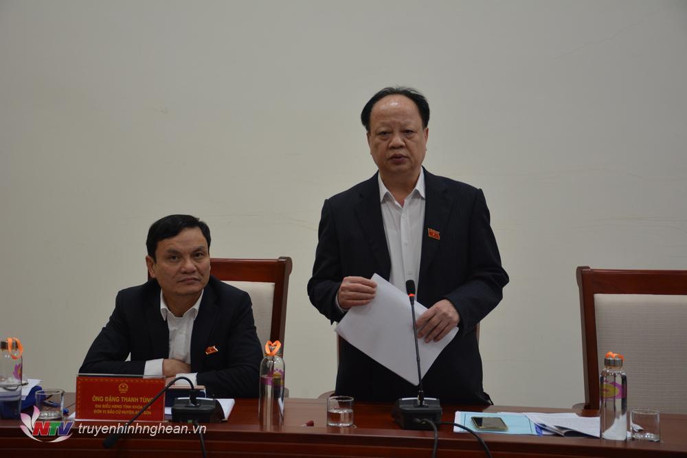 Đại biểu Nguyễn Văn Độ phát biểu.