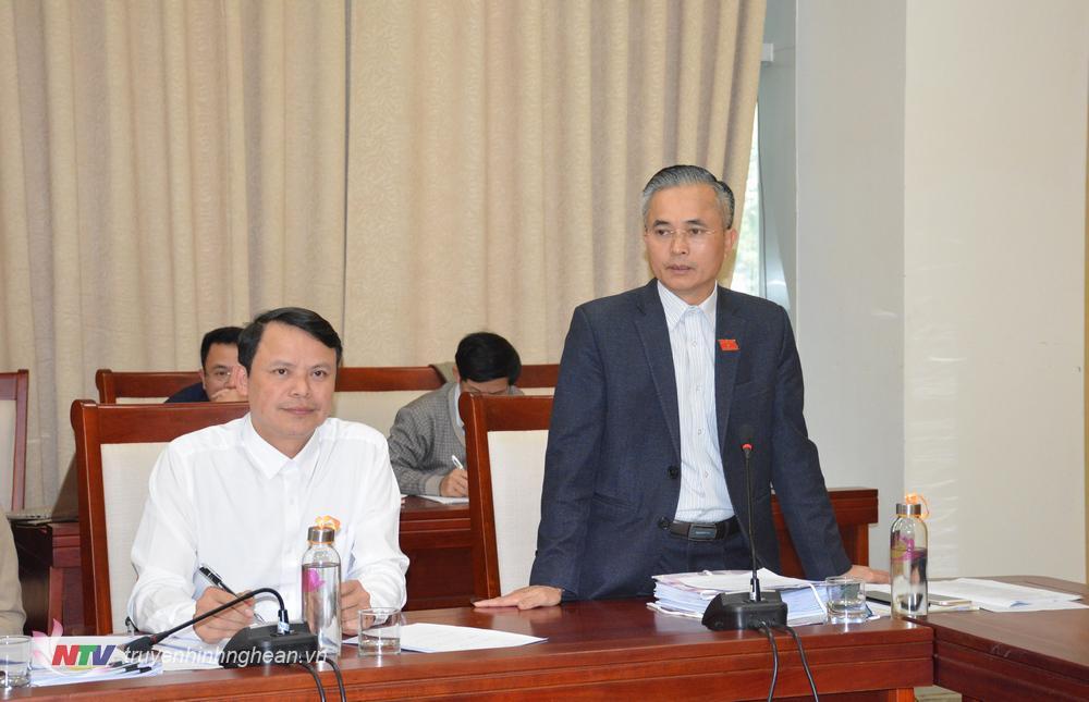 Đại biểu Lê Ngọc Hoa phát biểu ý kiến.
