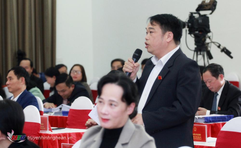 Đại biểu Hoàng Nghĩa Hùng chất vấn tại phiên họp