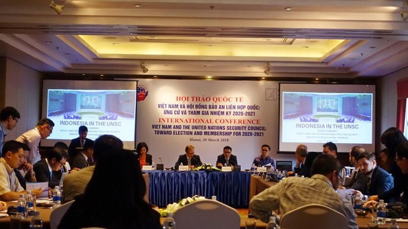 Việt Nam đã tổ chức nhiều hội thảo để tham vấn về việc ứng cử vị trí Ủy viên không thường trực của Hội đồng Bảo an Liên Hợp Quốc. Nguồn: VOV