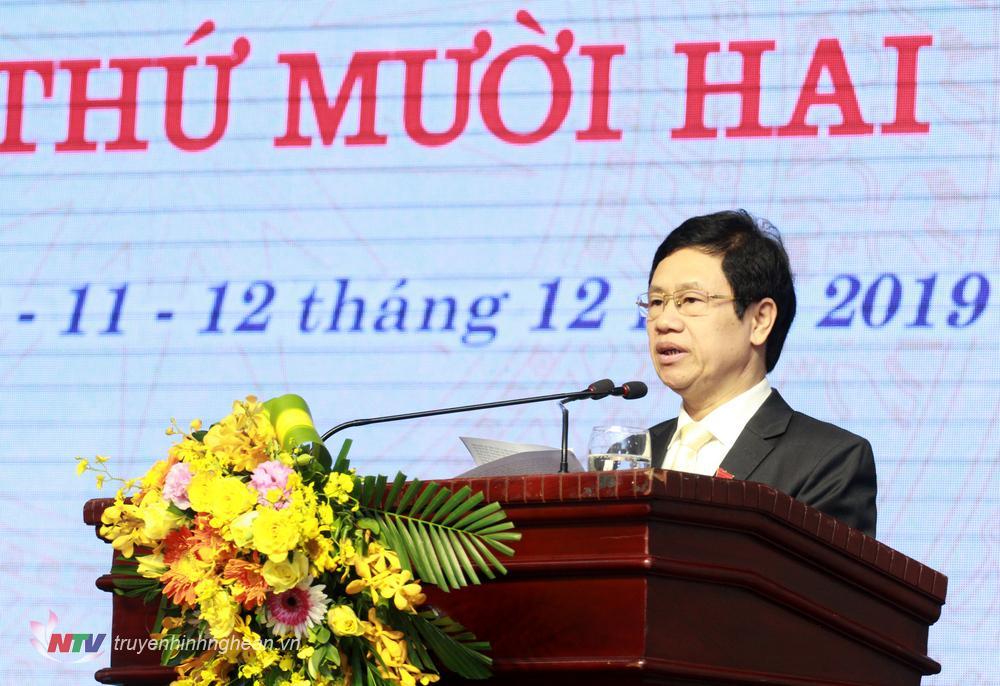Chủ tịch HĐND tỉnh Nguyễn Xuân Sơn phát biểu bế mạc kỳ họp.