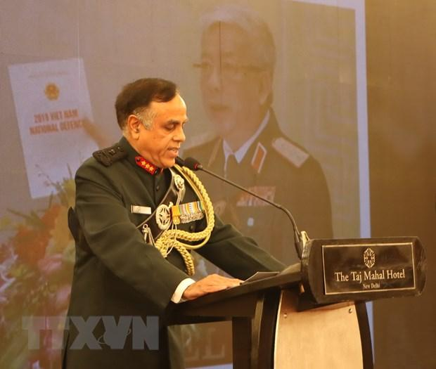 Giám đốc Cơ quan tình báo quốc phòng Ấn Độ, Trung tướng Amarjeet Singh Bedi phát biểu tại buổi lễ