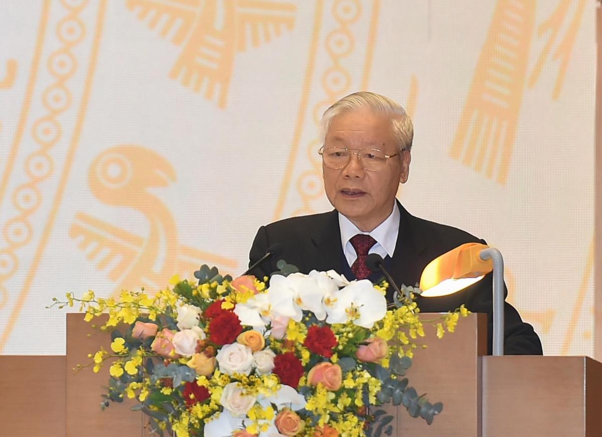 Tổng Bí thư, Chủ tịch nước Nguyễn Phú Trọng phát biểu chỉ đạo Hội nghị.