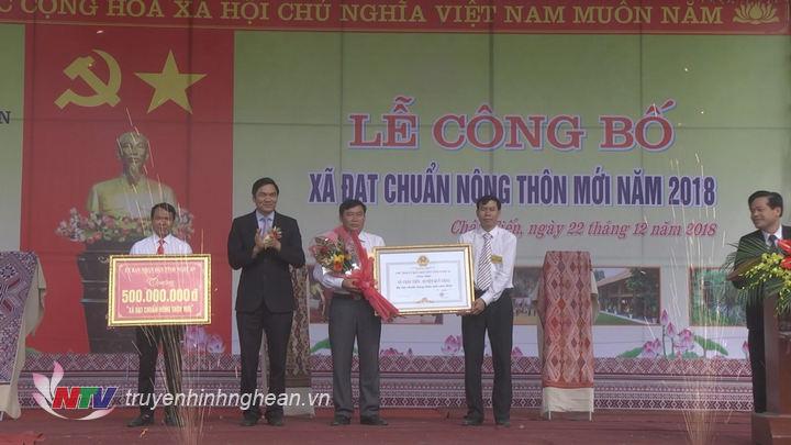 Xã Châu Tiến, Quỳ Châu là 1 trong 23 xã được đón nhận danh hiệu NTM trong năm 2018.