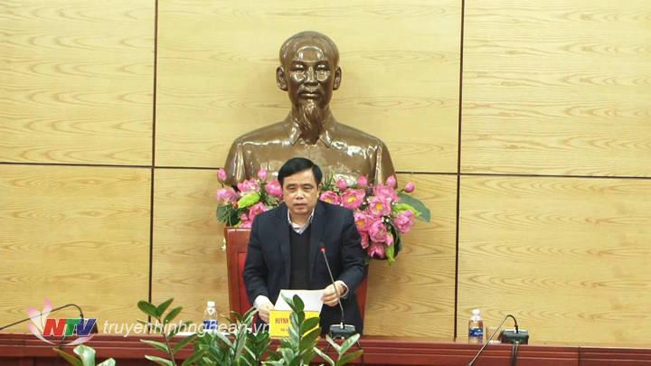 Phó Chủ tịchUBND tỉnh Huỳnh Thanh Điền yêu cầu TP Vinh phải quyết liệt trong việc phối hợp kiểm kê, định giá, thu hồi đất và bố trí tái định cư cho các hộ dân nằm trong diện bị ảnh hưởng.