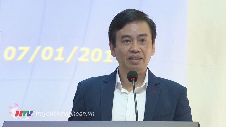 Đồng chí Nguyễn Bá Hảo - Phó Giám đốc Sở TTTT phát biểu tại hội nghị.