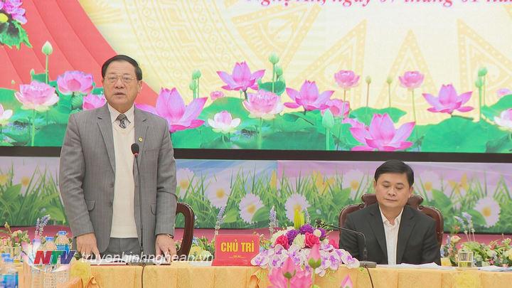 Phó Chủ tịch UBND tỉnh Lê Minh Thông thông tin thêm về tình hình phát triển KTXH của tỉnh trong năm 2018.