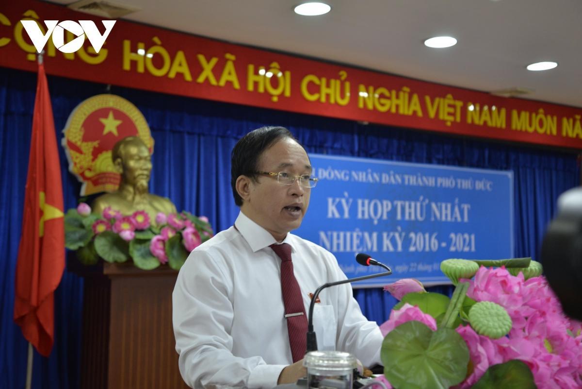 Ông Nguyễn Phước Hưng giữ chức vụ Chủ tịch HĐND thành phố Thủ Đức.