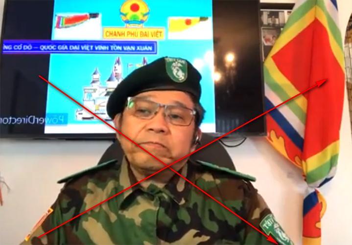 Ngô Hùng xuất hiện trong một video trên mạng năm 2020. Ảnh cắt từ video