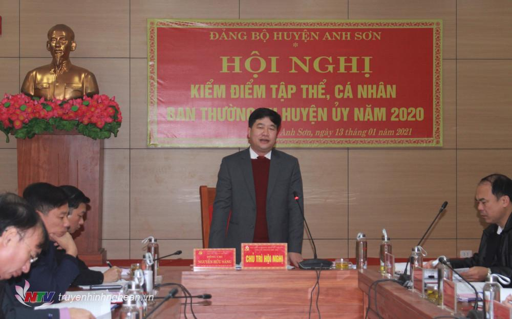 do đồng chí Nguyễn Hữu Sáng- ủy viên BCH đảng bộ tỉnh, Bí thư huyện ủy, chủ tịch HĐND huyện