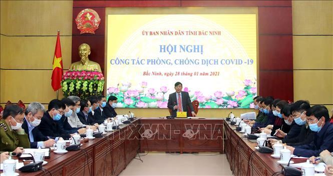 Chiều 28/1/2021, Ban Chỉ đạo phòng chống dịch COVID-19 tỉnh Bắc Ninh họp bàn các biện pháp cấp bách phòng, chống dịch COVID-19.