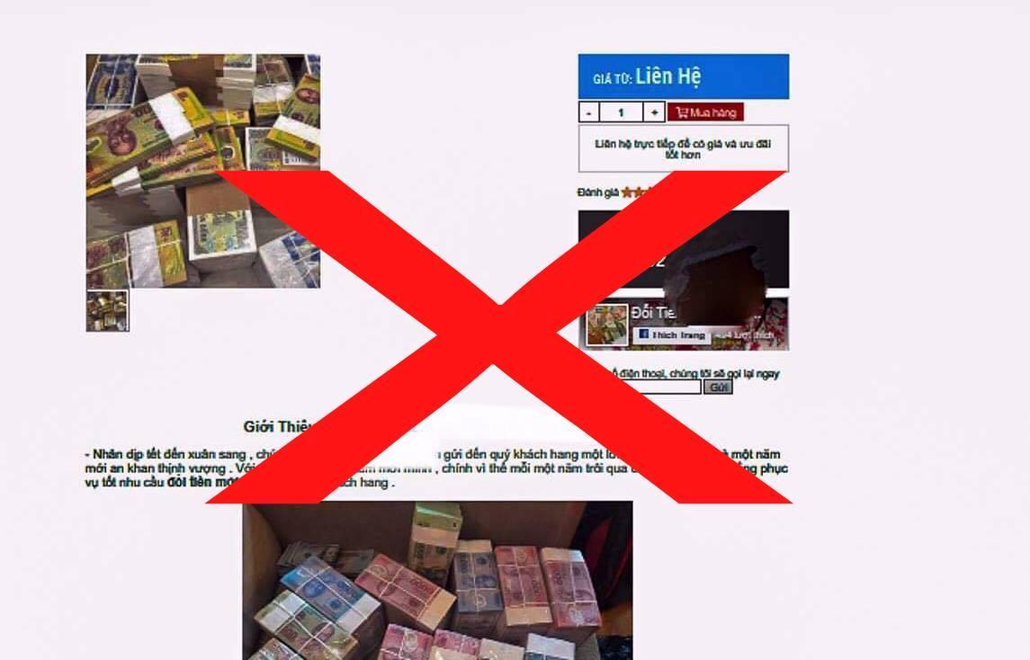 Tâm lý một số người dân thích tiền mới nên dịch vụ đổi tiền trái phép vẫn có cửa hoạt động.