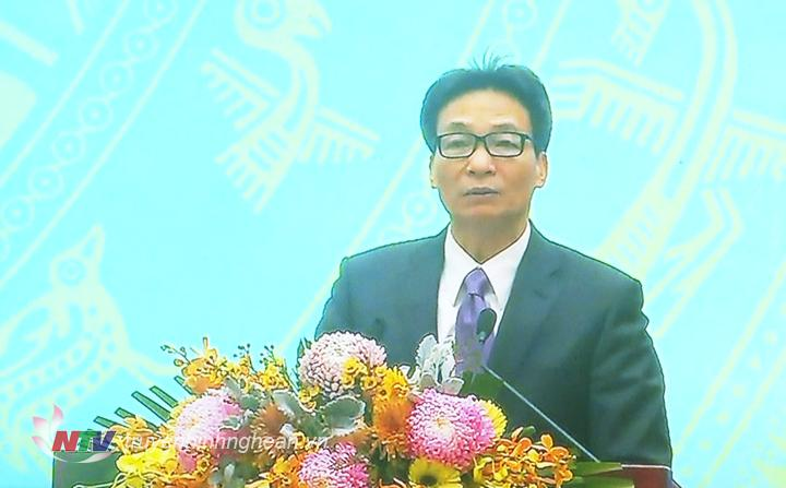 Phó Thủ tướng Vũ Đức Đam phát biểu kết luận tại hội nghị.