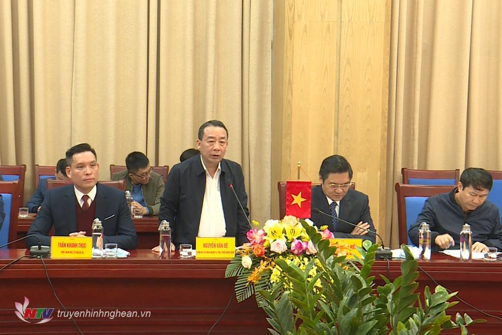 Giám đốc Sở NN&PTNN Nguyễn Văn Đệ phát biểu tại cuộc làm việc.