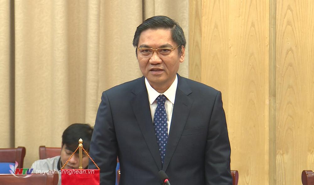 Phó Chủ tịch UBND tỉnh Hoàng Nghĩa Hiếu nêu kiến nghị, đề xuất.