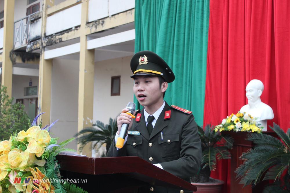 công an huyện tuyên truyền về công tác phòng, chống pháo nổ tại chương trình
