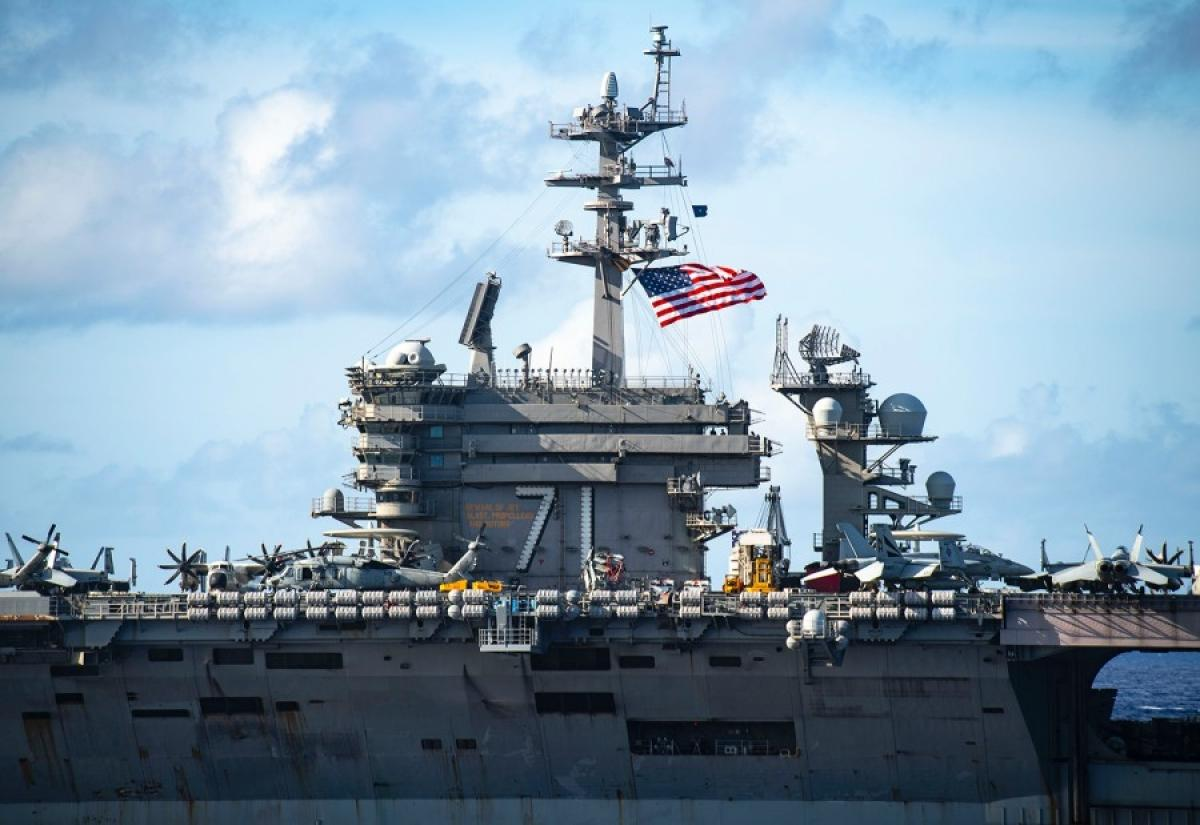 Tàu sân bay USS Theodore Roosevelt. Ảnh: stripes.